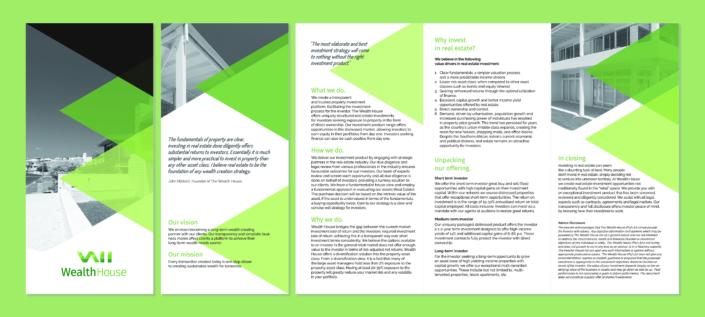 WealthHouse Logo, Brand and Brochure