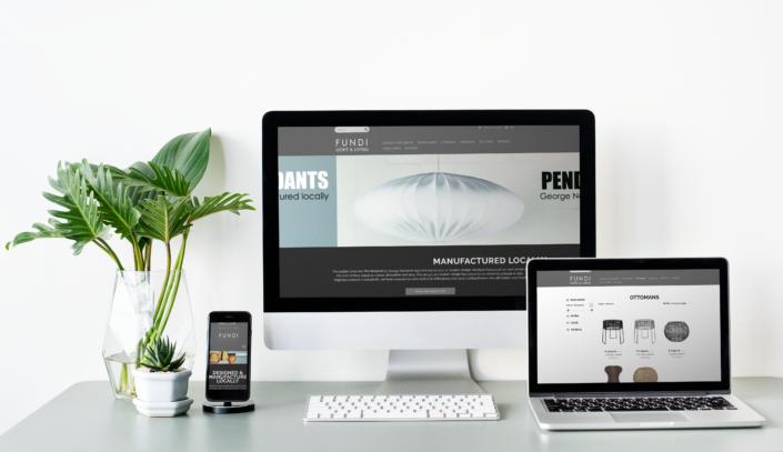 Fundi website views on multiple screens