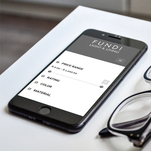 Fundi website viewed on a phone