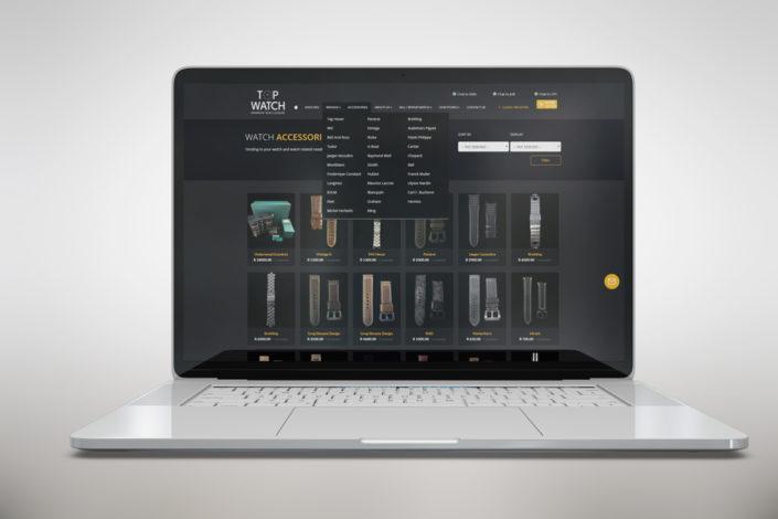 topwatch accessories page menu