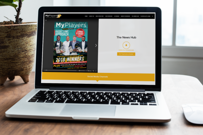 The News Feed page for MyPlayers